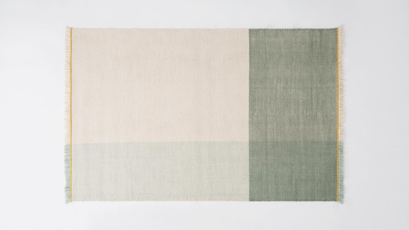 Eq3 Grid Rug 8 X 10 Green Schreiters